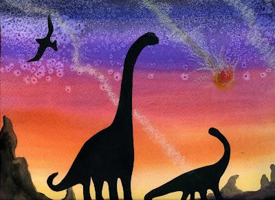 That Artist Woman Silhouettes Dinosaur Art Project 2
