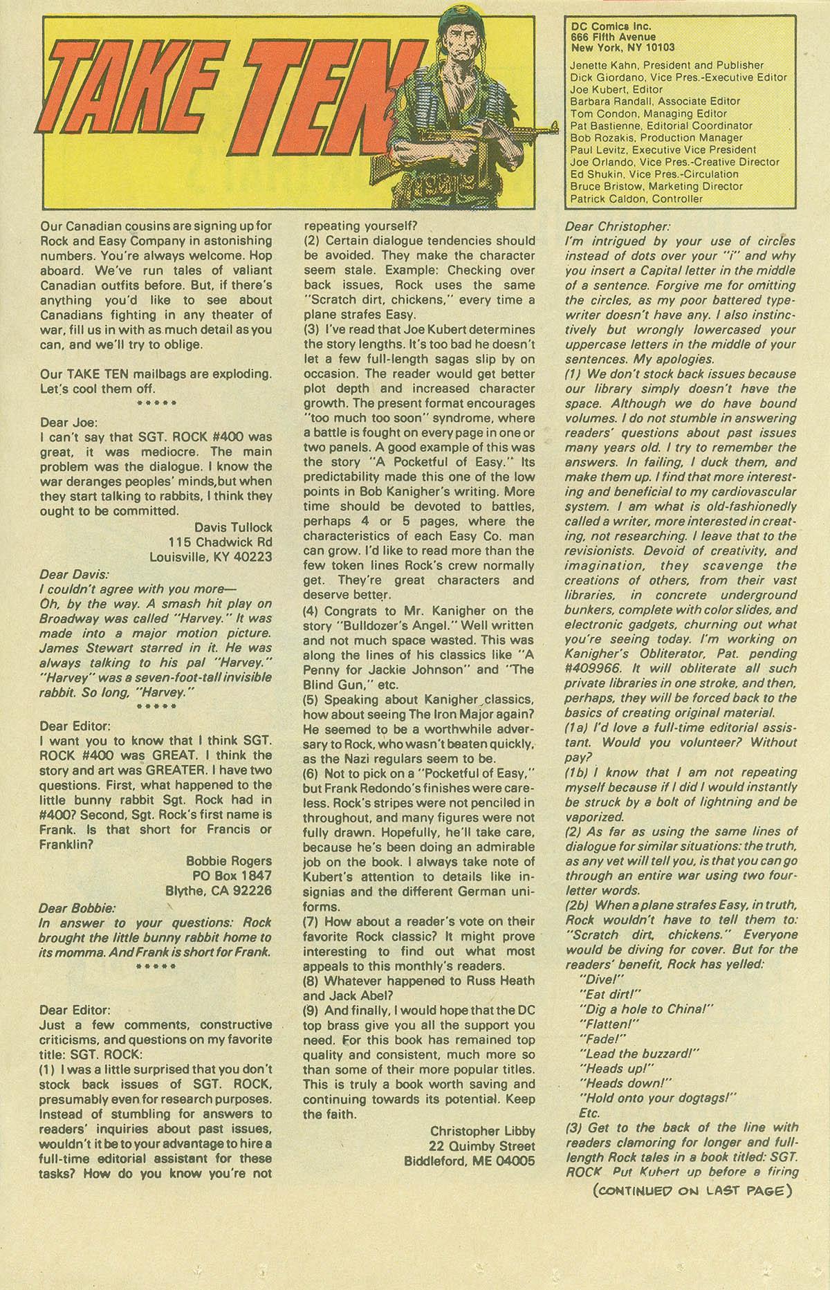 Read online Sgt. Rock comic -  Issue #404 - 17