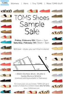 e8080809b8c Saturday I attended the TOMS Shoes sample sale in Santa Monica. I ve  written about TOMS before