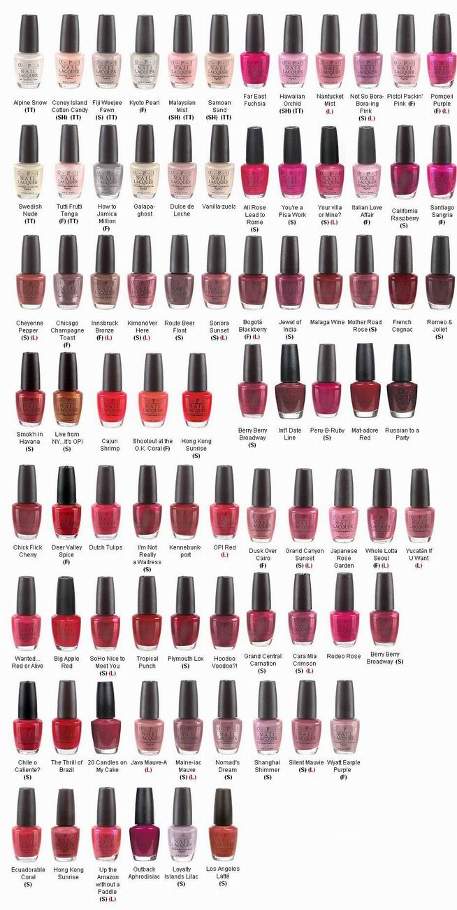 opi nail polish lacquer color paints collection 2015 variety p19 to - Opi Gel Color Chart