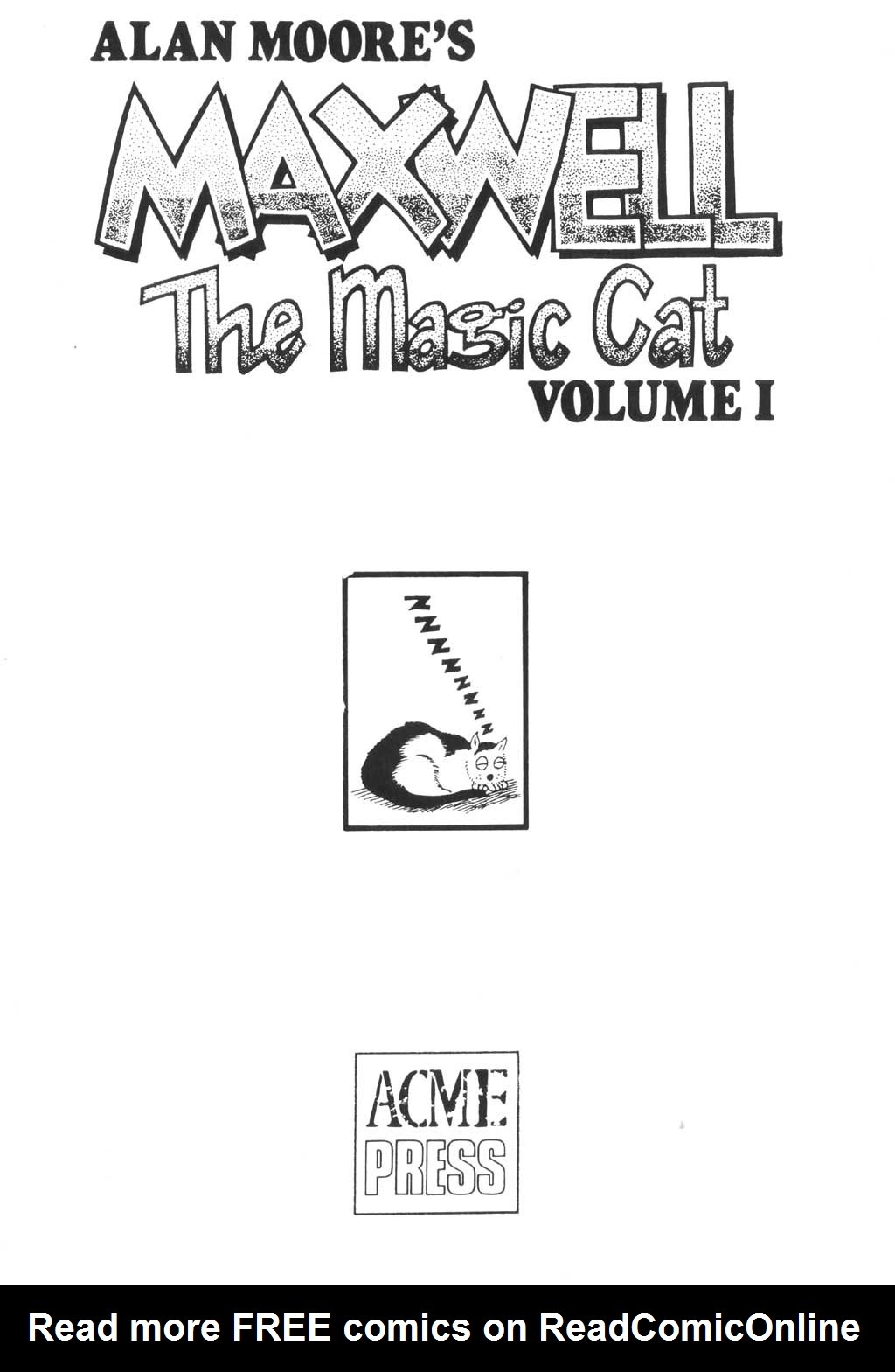 Read online Alan Moore's Maxwell the Magic Cat comic -  Issue #1 - 2