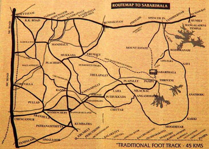 Sabarimala Route Map Ayyappa : Route Map to Sabarimala / Link