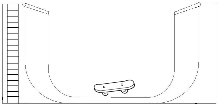 Desenho De Skate Para Imprimir: Print Desenhos: Desenho De Pista De Skate Para Colorir