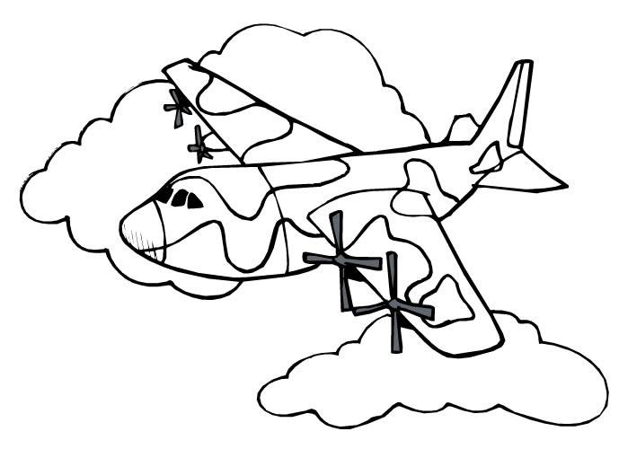 Tudo Aqui Online Pro: Desenho De Avião Cargueiro De Guerra