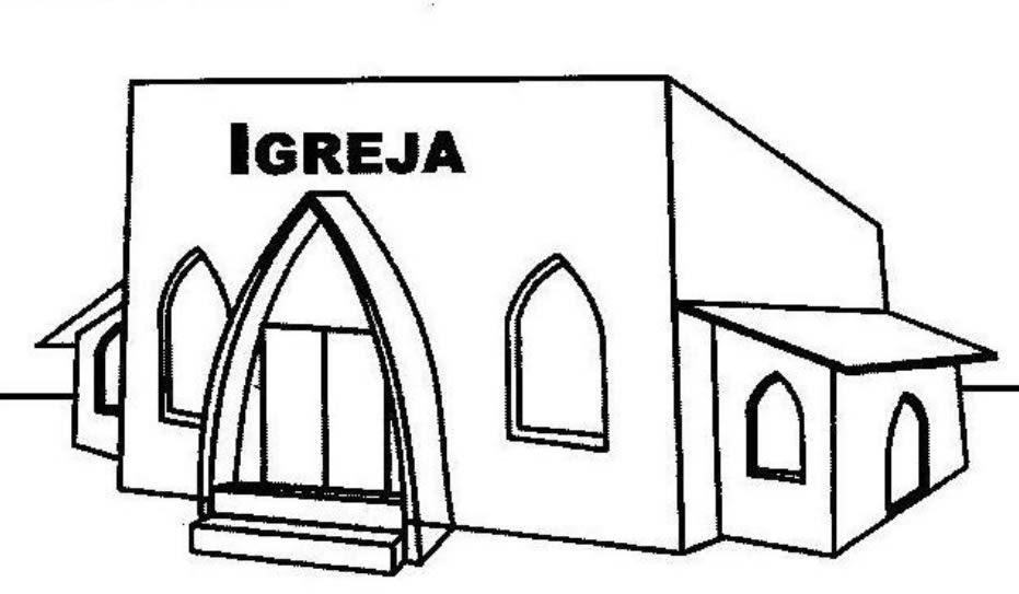 Desenho De Igreja Para Pintar E Imprimir Desenho De Locais Publicos