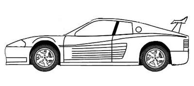 58525b2751b print desenhos  Desenho de carros esporte