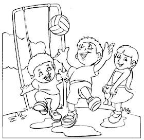 Print Desenhos Desenho De Criancas Jogando Bola Desenhos
