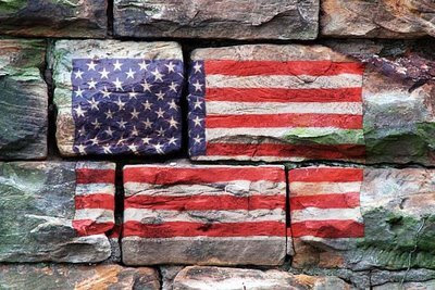 altered American flag photo