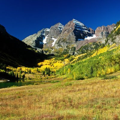 Maroon Bells, located outside of Aspen,  Colorado