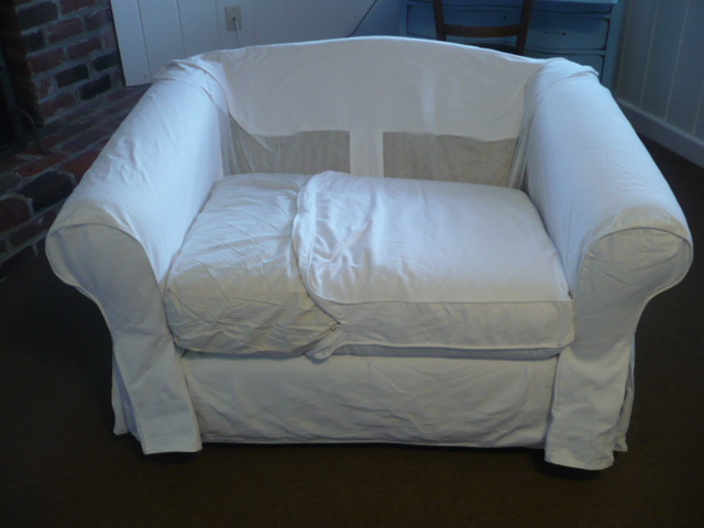 Westhampton Diy Converting An Ikea Slipcover To Fit A Non