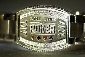 2008 WSOP Main Event bracelet, won by Peter Eastgate