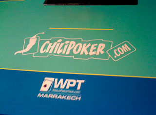 A poker table at WPT Marrakech presented by Chilipoker