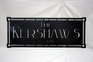bishopbuilt unique home decor outdoor metal family name signs