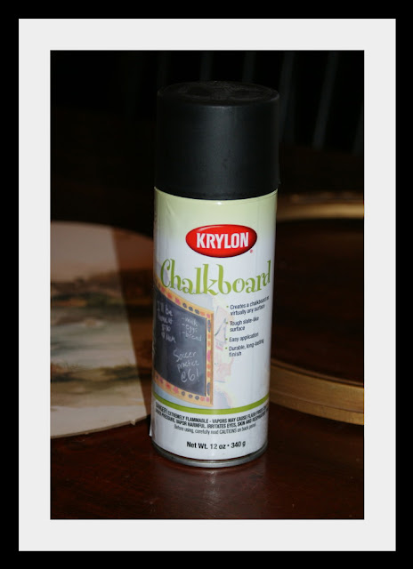 Krylon chalkboard spray paint DIY