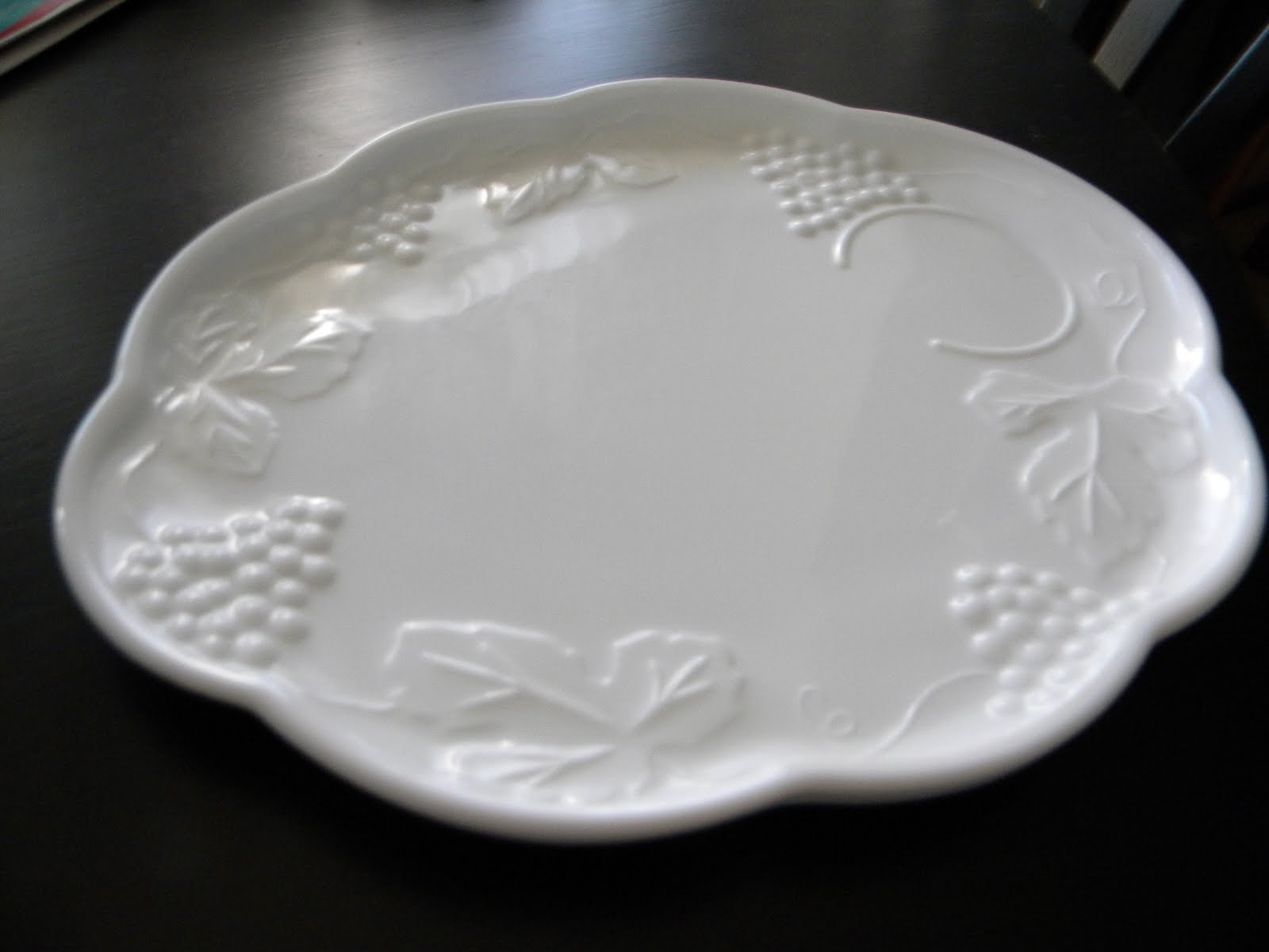 Daze Of Grace Milk Glass Luncheon Plates