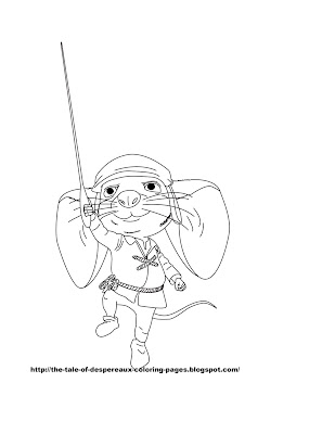 tale of desperoux coloring pages - photo#6