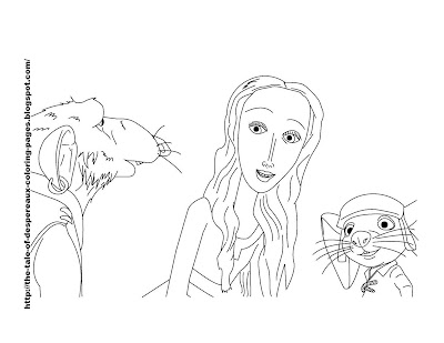 The Tale of Despereaux Coloring Pages