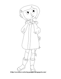 Coraline Coloring Pages Two New Free Coraline Coloring Page