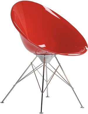 Red Philippe Starck chair from hive