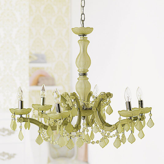 DESIGN ON SALE DAILY: A FROSTED GREEN CRYSTAL CHANDELIER ...