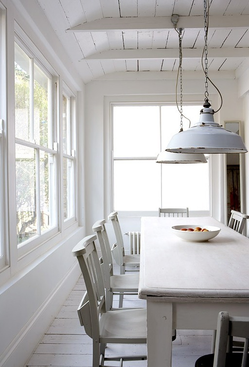 country dining room lighting | COCOCOZY: MODERN COUNTRY - SHABBY MEETS CHIC IN A WHITE ...