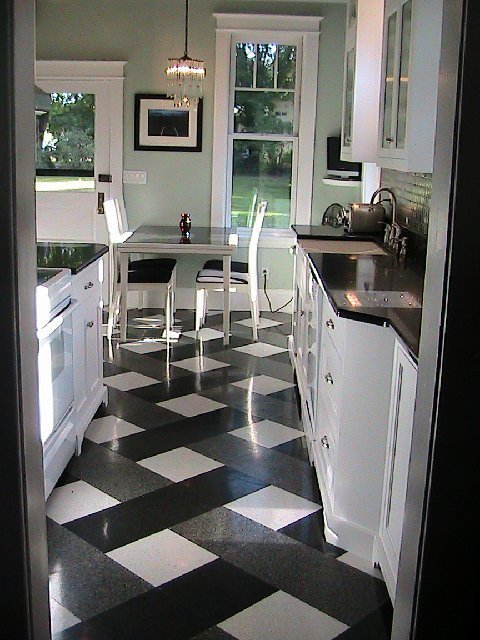 Black And White Roman Shades Kitchen