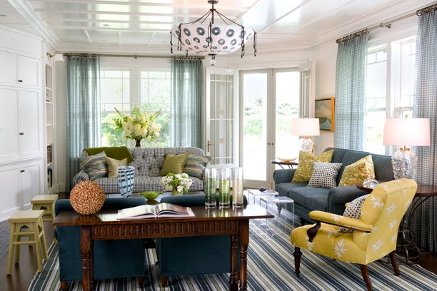 Brown And Mustard Yellow Living Room Interior Decorating