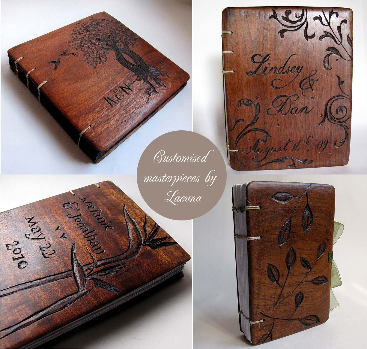artnlight  wooden book covers by lacuna works