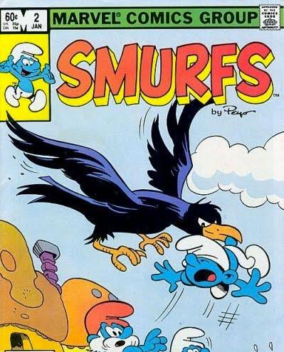POP CULTURE SHOP: SMURFS COMIC BOOK MARVEL SMURFETTE PAPA ...