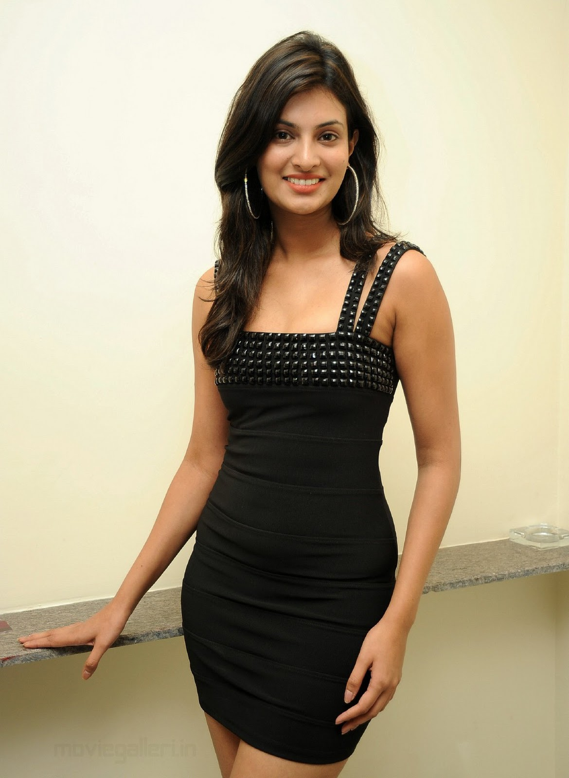 sayali bhagat hot photoshoot  black dress stills