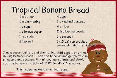 banana bread recipe card - photo #39