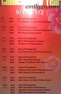 Kinta City Chinese New Year 2009 Programme