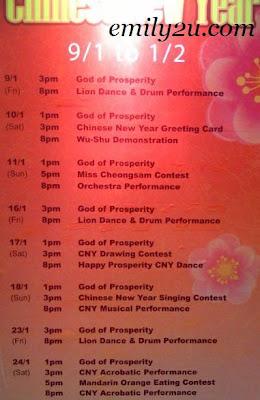 Kinta City Chinese New Year 2009 Programme
