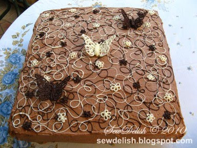 Make Chocolate Lace Buterfly Cake Nutella Icing Swirls