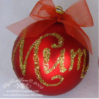 Lily Rose Lane Personalised Bauble Personalized Christmas