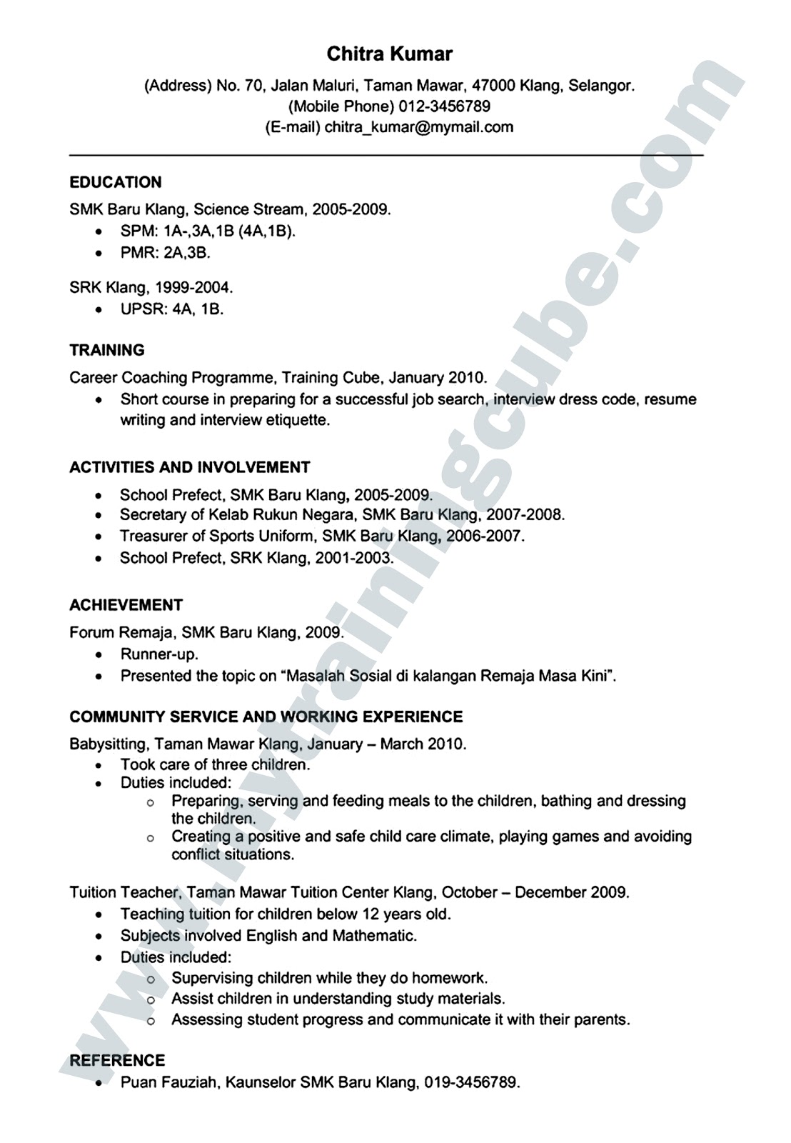 Contoh cover letter dan resume scribd share the knownledge for Cover letter for domestic violence job