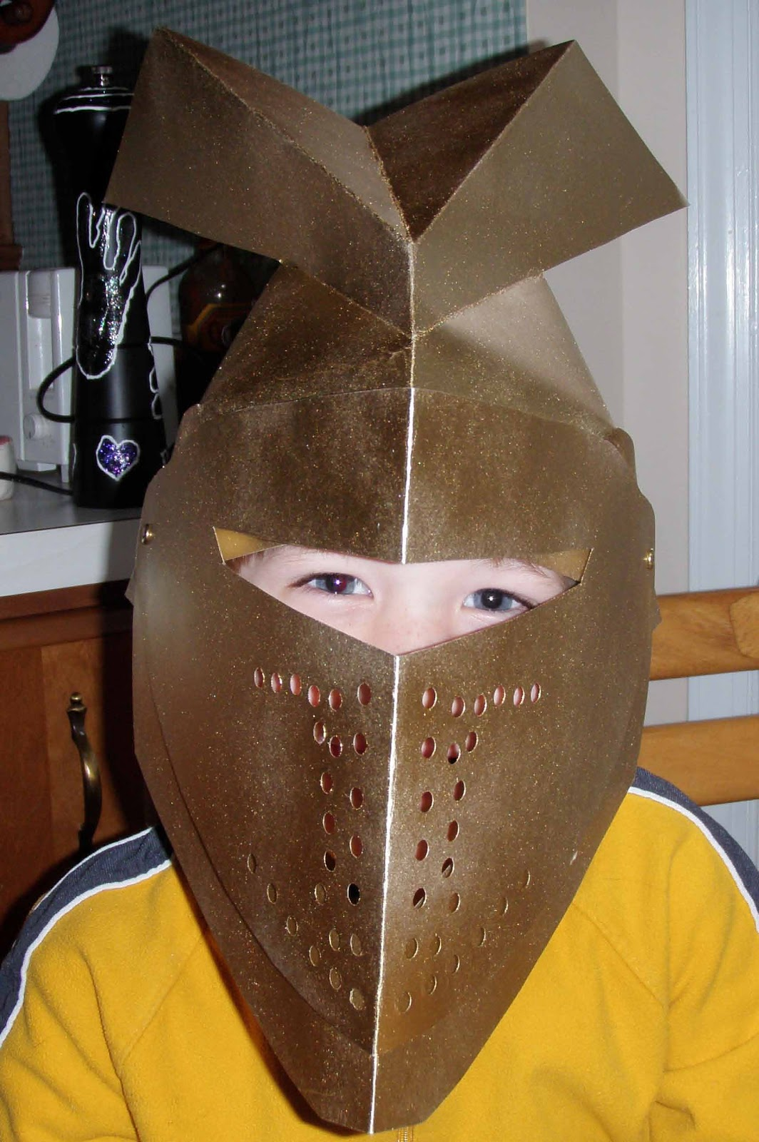 paper knight helmet template crack of dawn crafts knight party create this cool