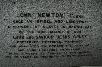 when did newton write amazing grace