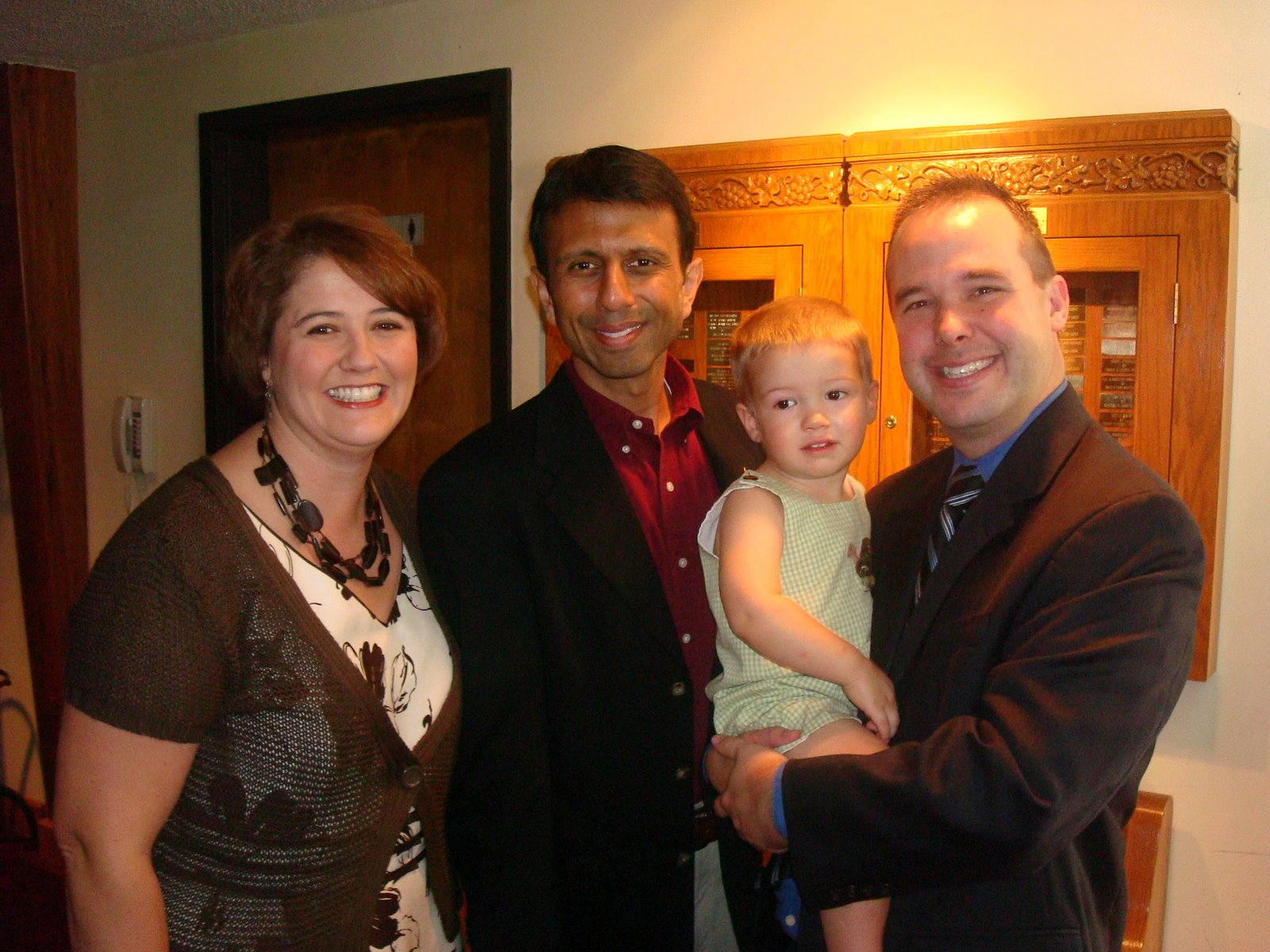 The Glenns with Bobby Jindal