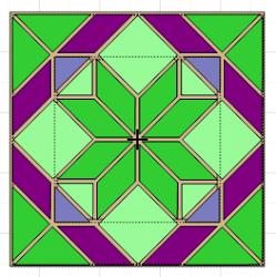 quilt flower block mtc