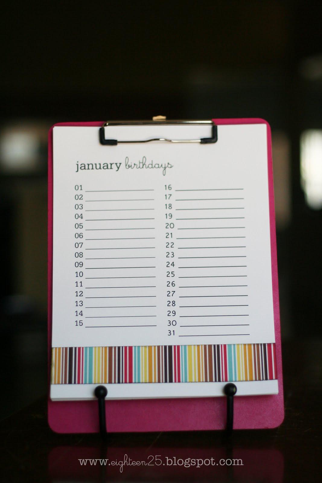 birthday reminder clipboard  birthday reminder clipboard