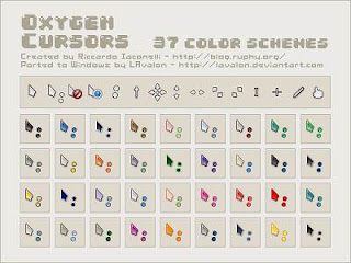 Oxygen Cursors by LAvalon Optimized 21 Cusor pack Untuk Windows Xp dan Windows 7
