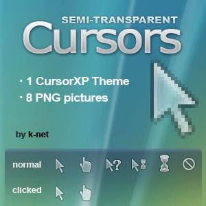 Semi transparent Optimized 21 Cusor pack Untuk Windows Xp dan Windows 7