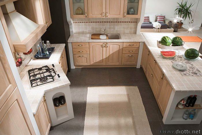 Consigli per la casa e l 39 arredamento cucine country idee e proposte d 39 arredo - Alternativa piastrelle cucina ...