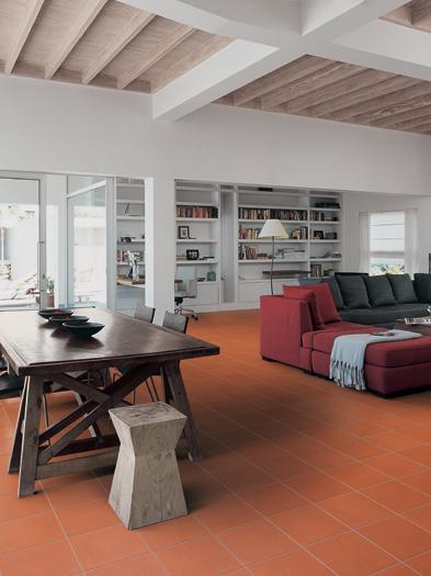 Consigli per la casa e l arredamento Come arredare in stile moderno con un pavimento in cotto