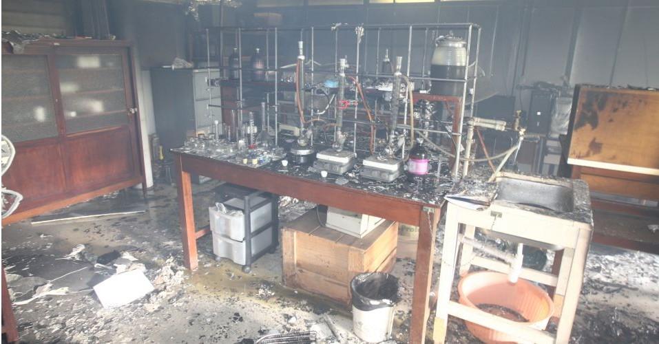 Acidentes em laboratorios quimicos