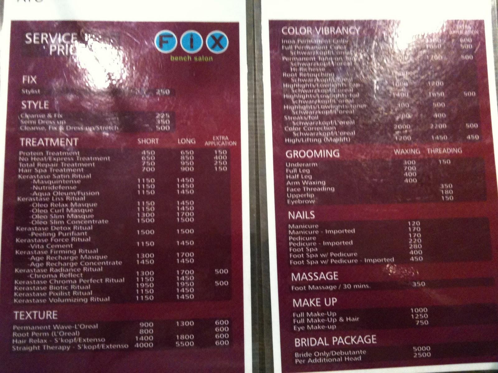 12+ Bench Fix Salon Prices 12