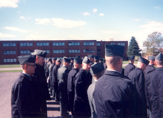 Final formation before graduating Basic Training