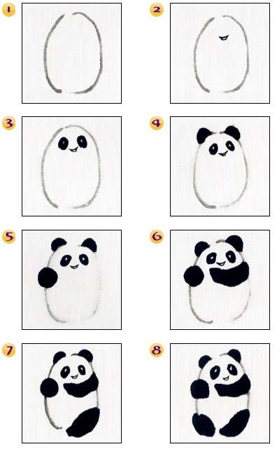 Dibujar Oso Panda Paso A Paso Blog De Lujo