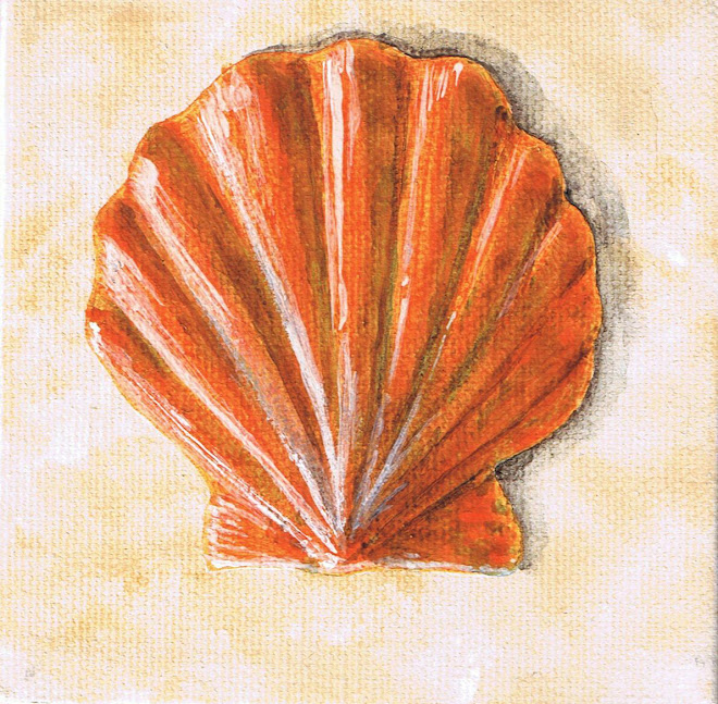 Scallop Shell Painting